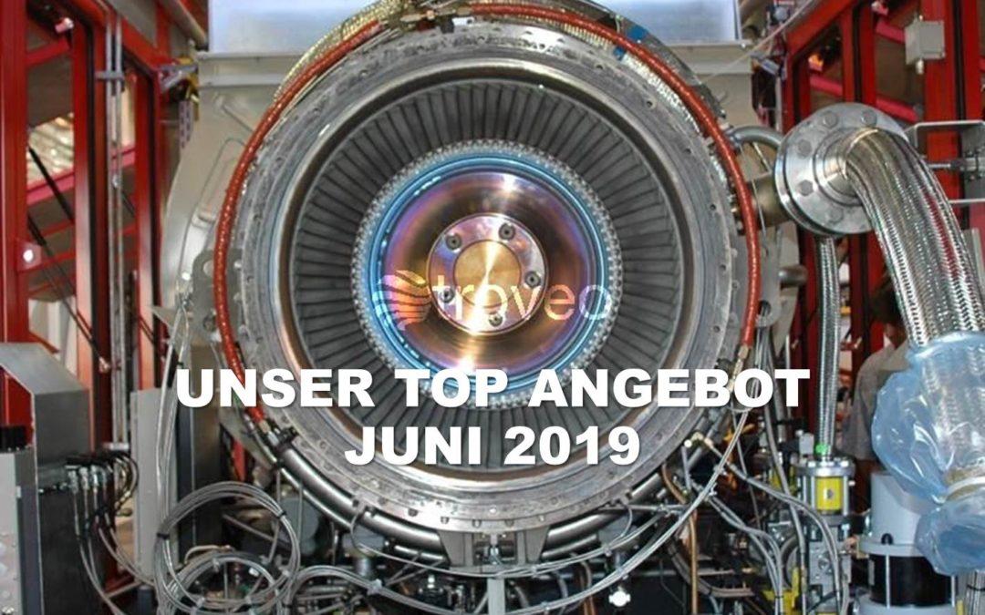 Top-Angebot Juni 2019: Nur moderat genutzter 7 MWel Gasturbinen-Generatorsatz im Angebot bei troveo