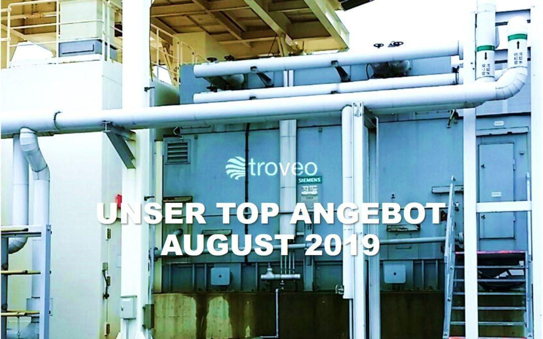 Top-Angebot Oktober 2019: eine bisher ungenutzte 34 MW Open Cycle Gasturbinen-Generatoranlage wartet auf Verkauf und Demontage