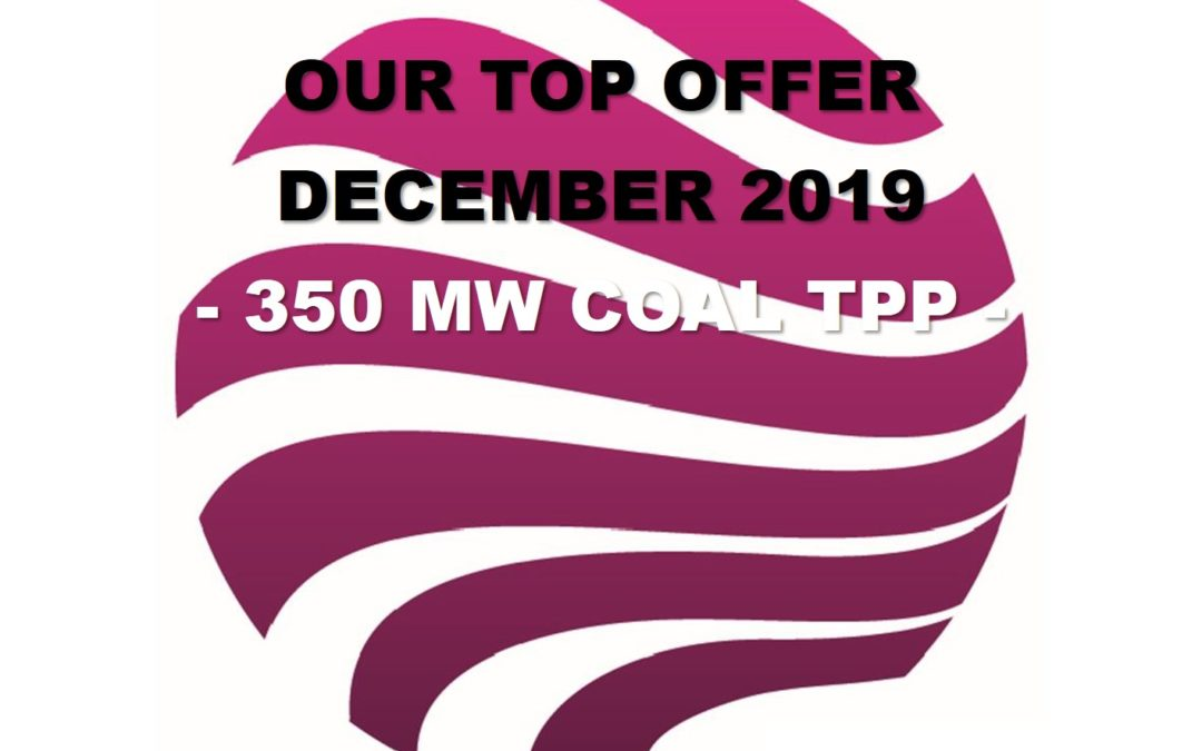 December 2019 Top Offer: A 350 MW coal-fired power plant from Western Europe, approx. 30 years old, excellently maintained until recently