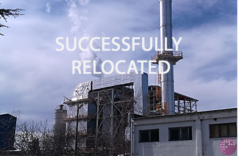 The relocation of a 35-year-old, coal-fired boiler for future use in a paper mill has been successfully completed