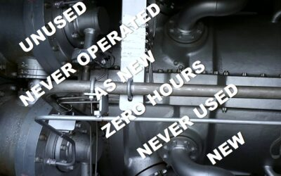 When is a power plant regarded as used? We increasingly offer unused zero hours operated plant equipment