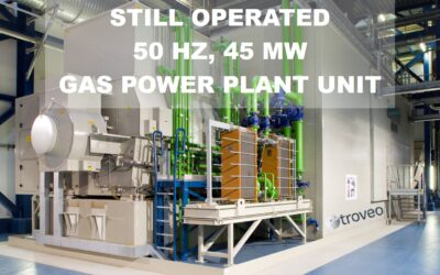 November 2020 Exclusive Top Offer:  For sale is a well-maintained, 15 years old, 50 Hz, 45 MW SIEMENS gas turbine generator set