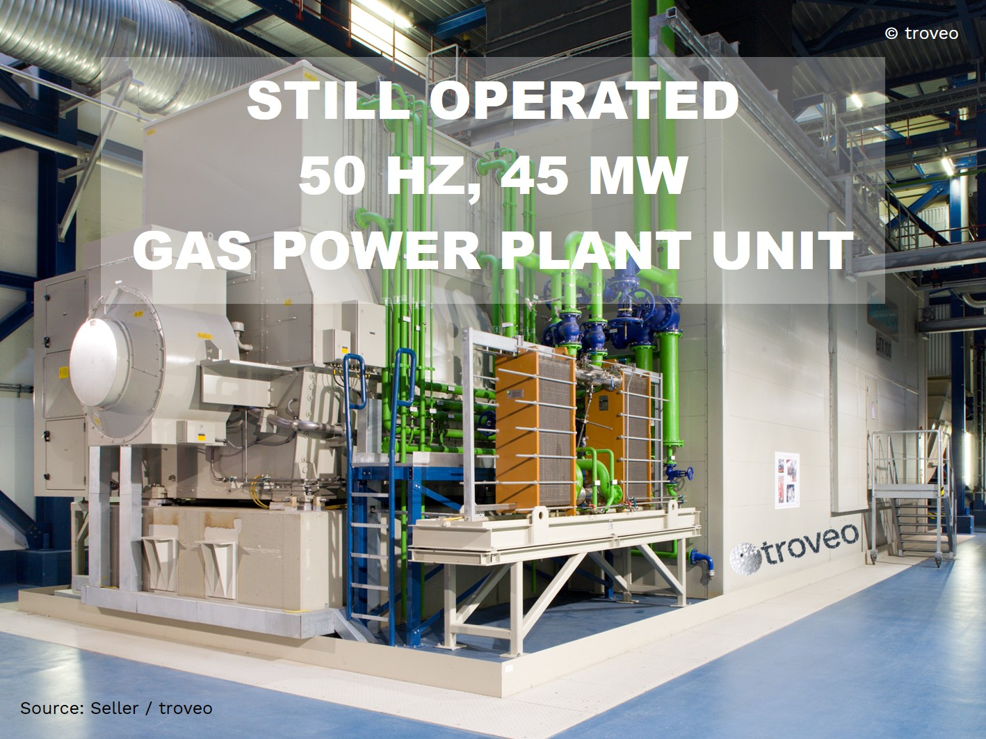Top Offer In November 2020 A 50 Mw Class Gas Turbine Power Plant