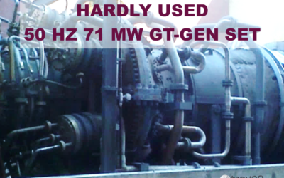 May 2021 Top Offer: For sale is an already dismantled and ready for transport 50 Hz, barely used 71 MW gas unit with GE 6FA turbine in very good condition